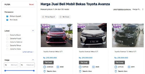 Beli Mobil Bekas Avanza Seva.id